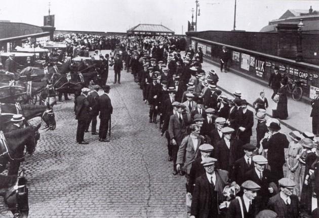 Preston Pals at Preston Railway Station, September 1914