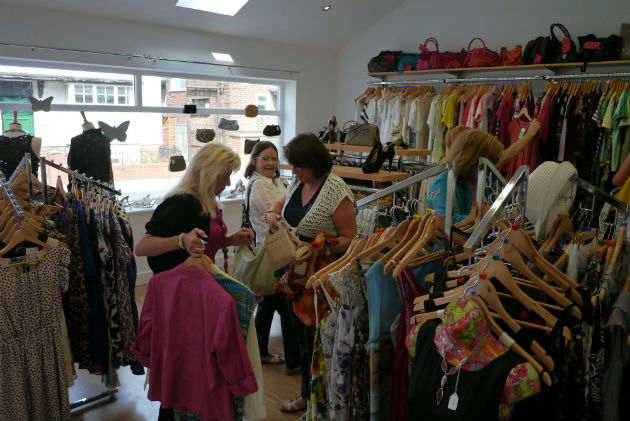 Inside the new St Catherine's Hospice shop