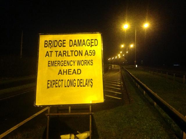 The A59 bridge has often been subjected to repairs