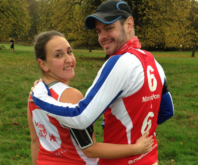 Ben Ashworth and his wife Louise are organising the Santa Dash