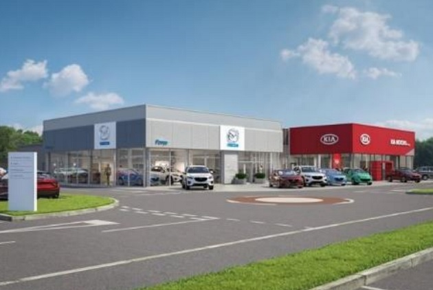 How the new Kia and Maza showrooms would look