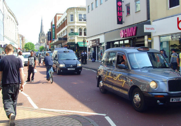 Taxis make their way down Fishergate Pic: Tony Worrall