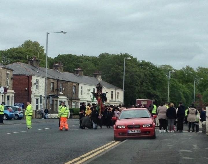 New Hall Lane, Preston - religious procession. Pic: Jen Williams