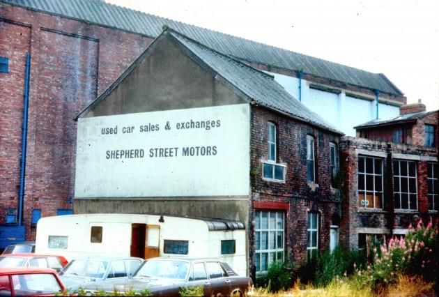 Shepherd Street (back) Preston c 1975