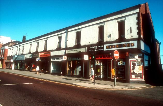 The Queens Buildings & Hill Place, Fishergate, Preston c.1979