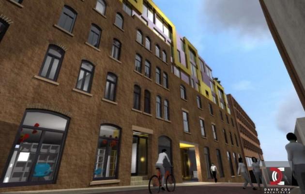 Artist impressions of new look Glovers Court development