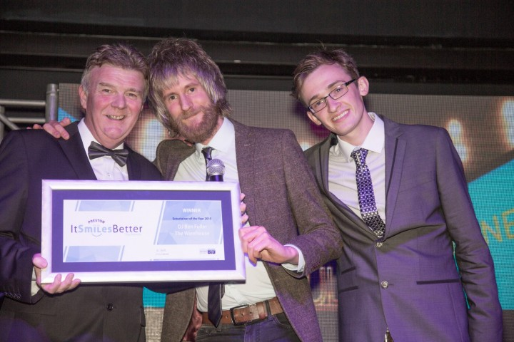 DJ Ben Fuller from the Warehouse wins Entertainer of the year