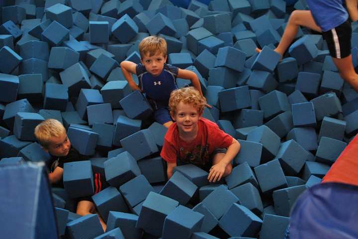 A foam pit is included in the plans Pic: Larkin family