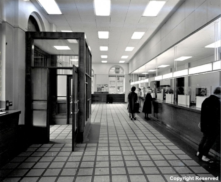 Main Hall of the Preston Head Post Office 1963