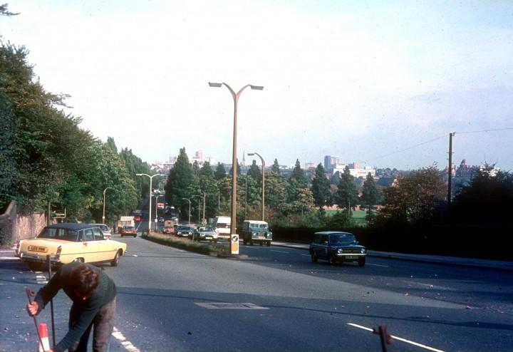Penwortham Hill, viewed from Liverpool Road, Penwortham, Preston c.1978