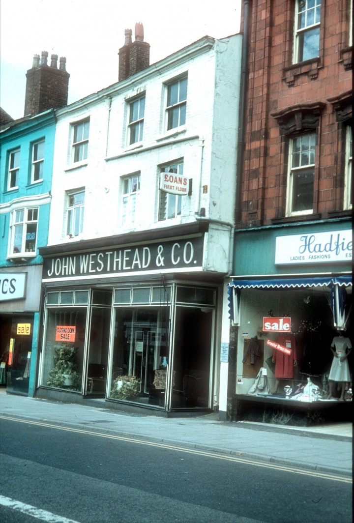 Friargate (north side) featuring John Westhead & Co, Preston c.1978
