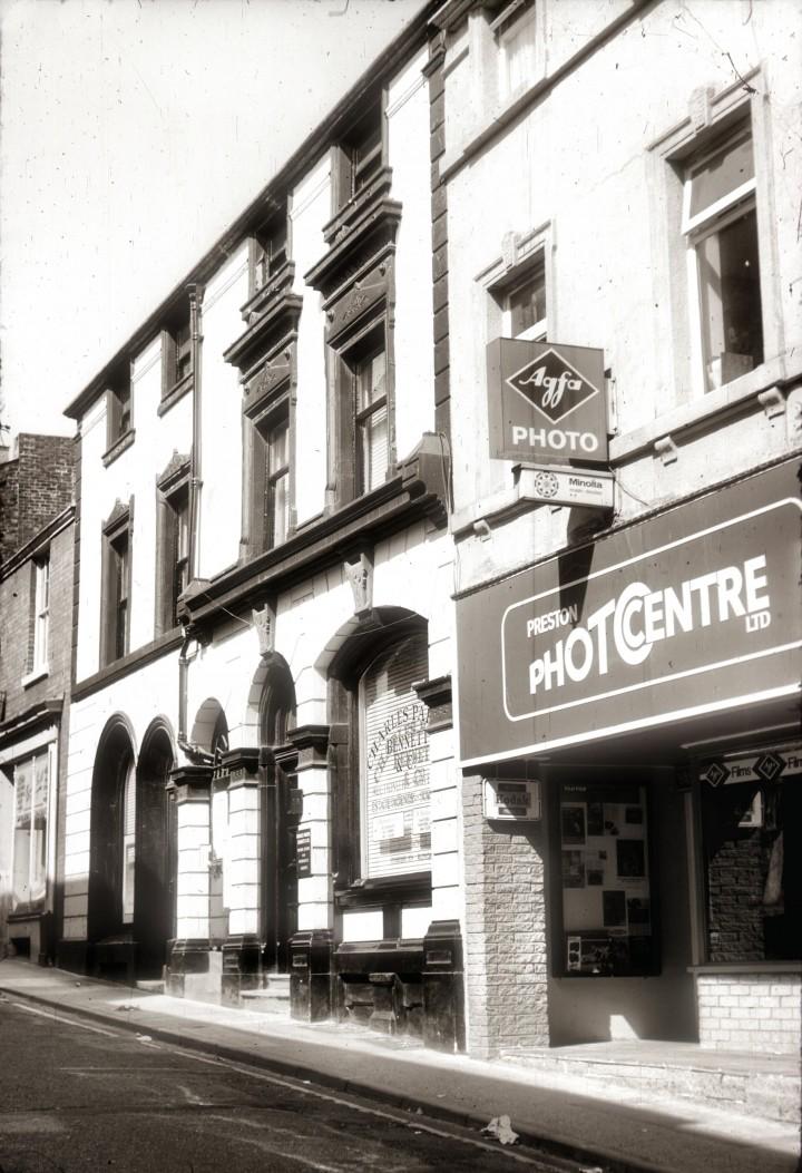Cannon Street, looking up twowards Fishergate, Preston c.1978
