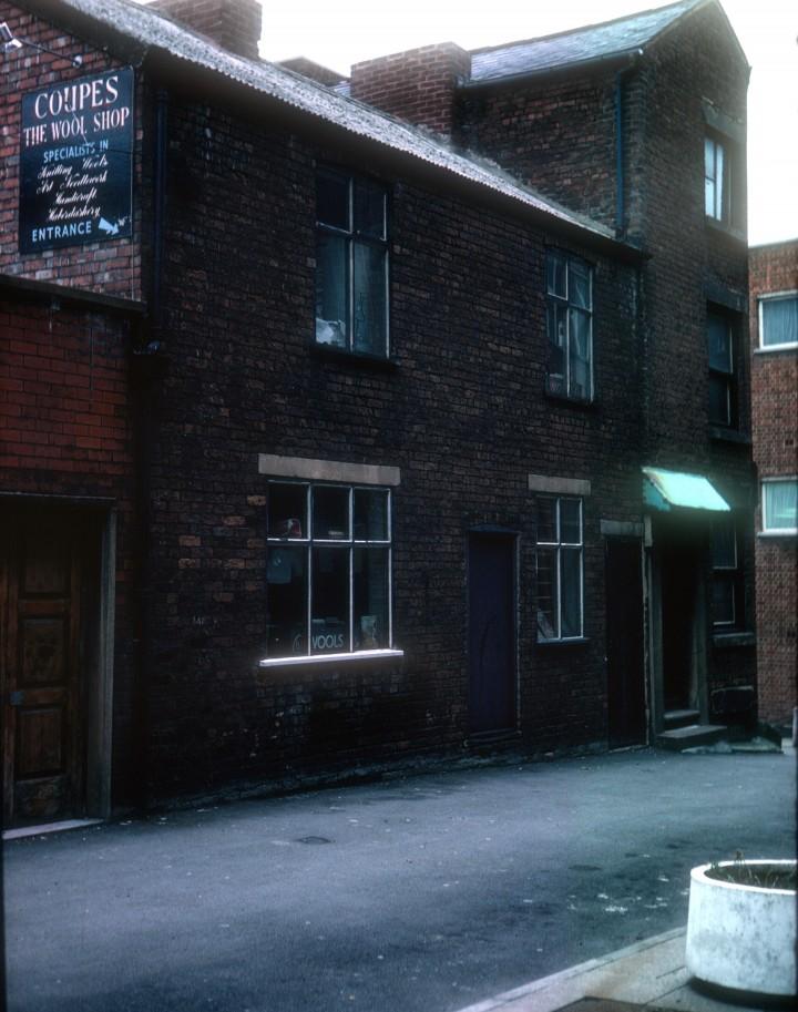 Rear of Coupes wool shop (Orchard Street), Lowthian Street, Preston 1979