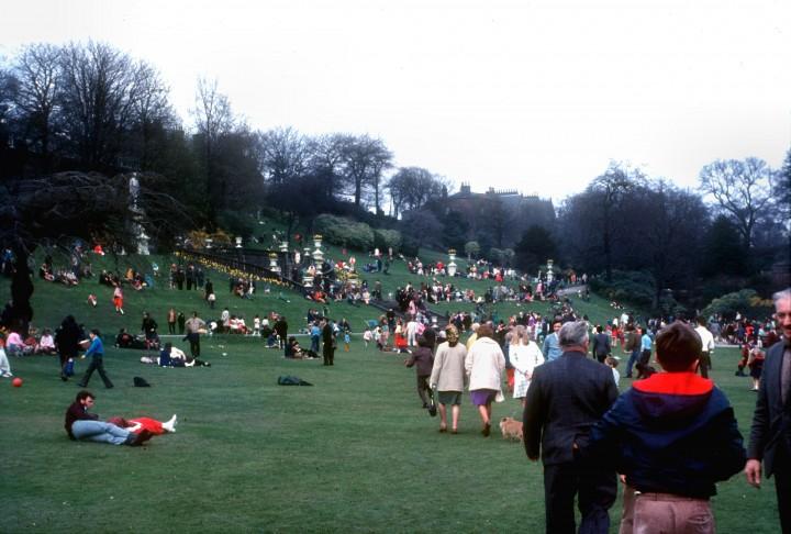 Easter in Miller Park, Preston 1970