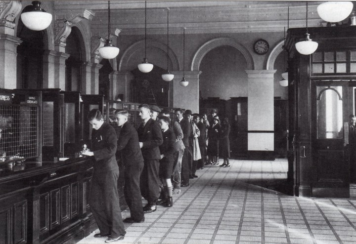 Main Hall of the Preston Head Post Office 1932