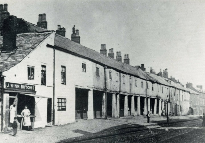 Preston's first Post office  at the end of The Shambles, (Lancaster Road) Preston c.1890 -  Closed around 1854