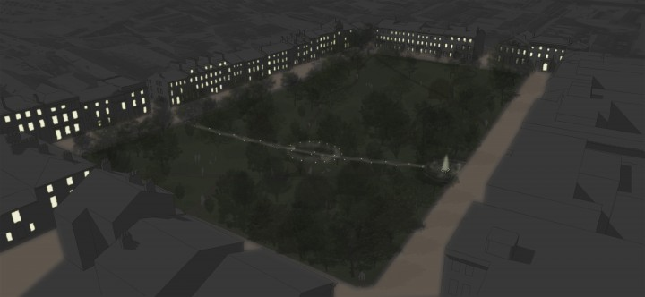 Winckley Square - Model View Night