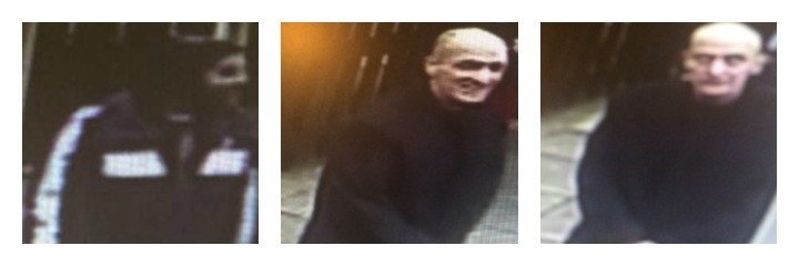 CCTV pictures released in connection with the burglary