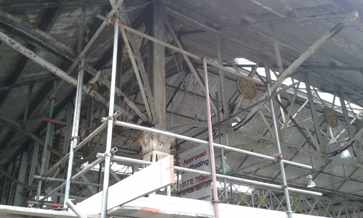 The canopy is a listed structure