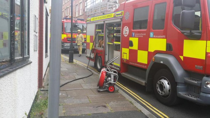 Crews tackle the fire in Avenham