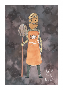 Evil Blizzard Mop Man by Laura Hunt