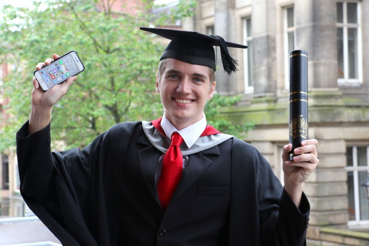 Felix celebrates his graduation and landing a role with Apple