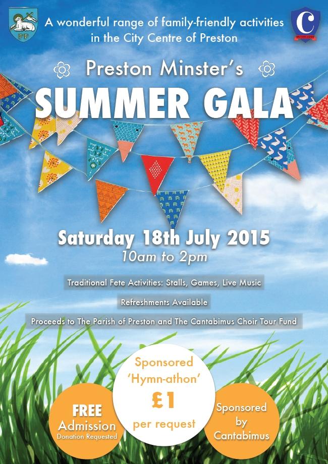 Preston Minster Summer Gala Poster