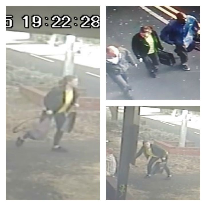 Three CCTV pictures released by police of the suspects
