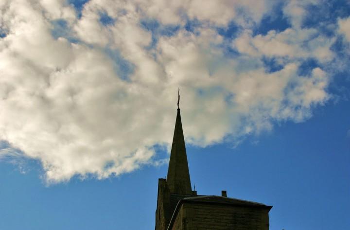 Grimshaw Street church spire needs urgent repair work Pic: foxter66