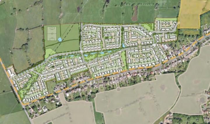 Hoyles Lane masterplan shows the extent of the development