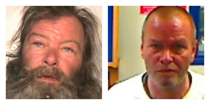 Keith Walton pictured with and without beard
