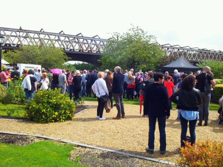 Crowds spilled outside to listen to the Labour leadership candidate Pic: Cat Walker