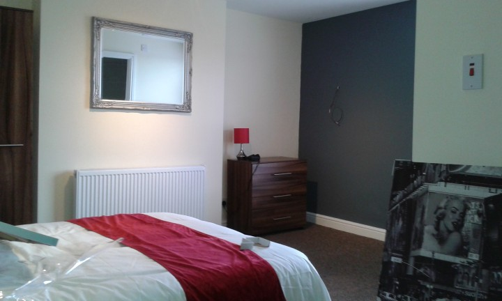 One of the bedrooms in the smartened up Brook House
