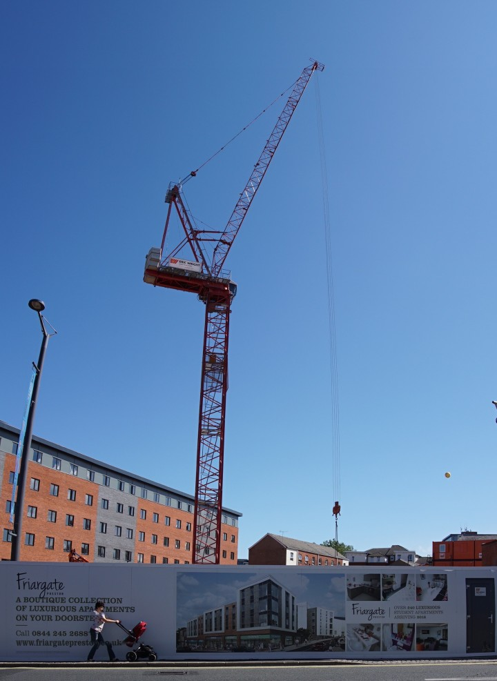 Crane towering above the Friargate development