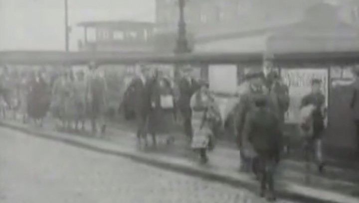 A still from a 1925 video of Preston Station Pic: Reuters