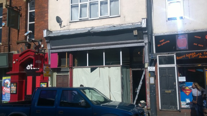 The former shop front in Friargate