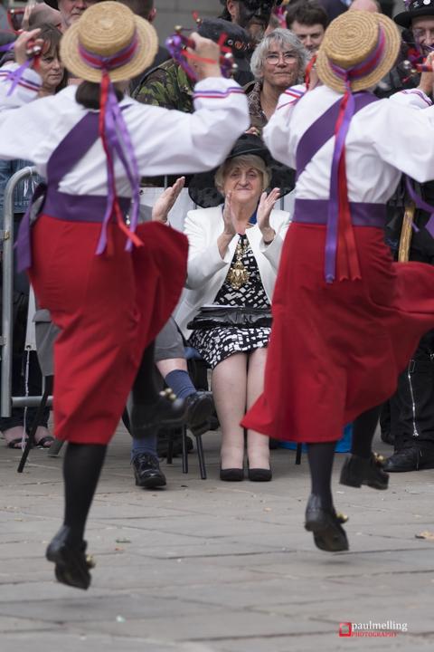 Preston UK. 5th September 2015. New Morris Dancing Guinness Worl