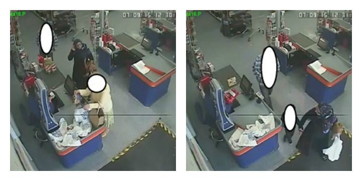 CCTV images released by Preston Police of the incident