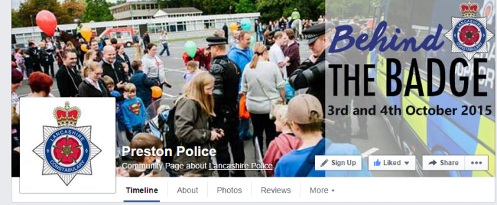 The post on Preston Police' Facebook page has sparked a lot of reaction