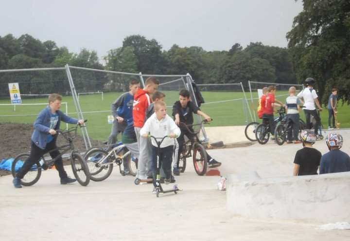 Making the most of the new Skate Park as the summer holidays come to an end