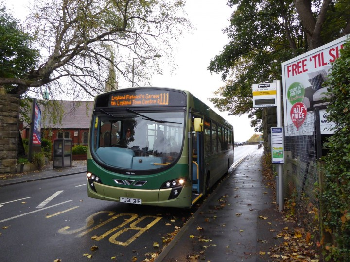 The 111 service making one of its last trips through Preston on Saturday Pic: Heather Crook