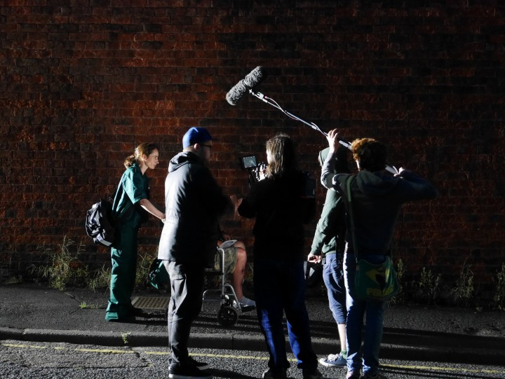 Scene during the making of the Blackout. Pic: Gill Lawson