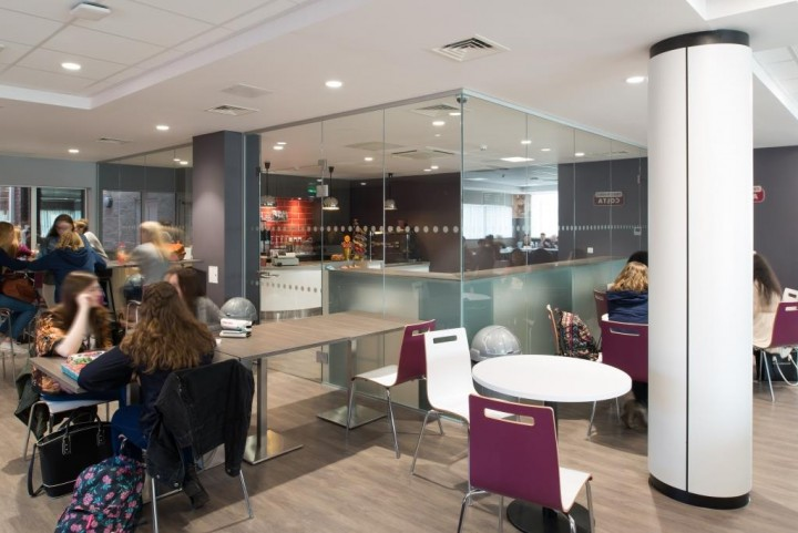 Inside the new look building at Cardinal Newman