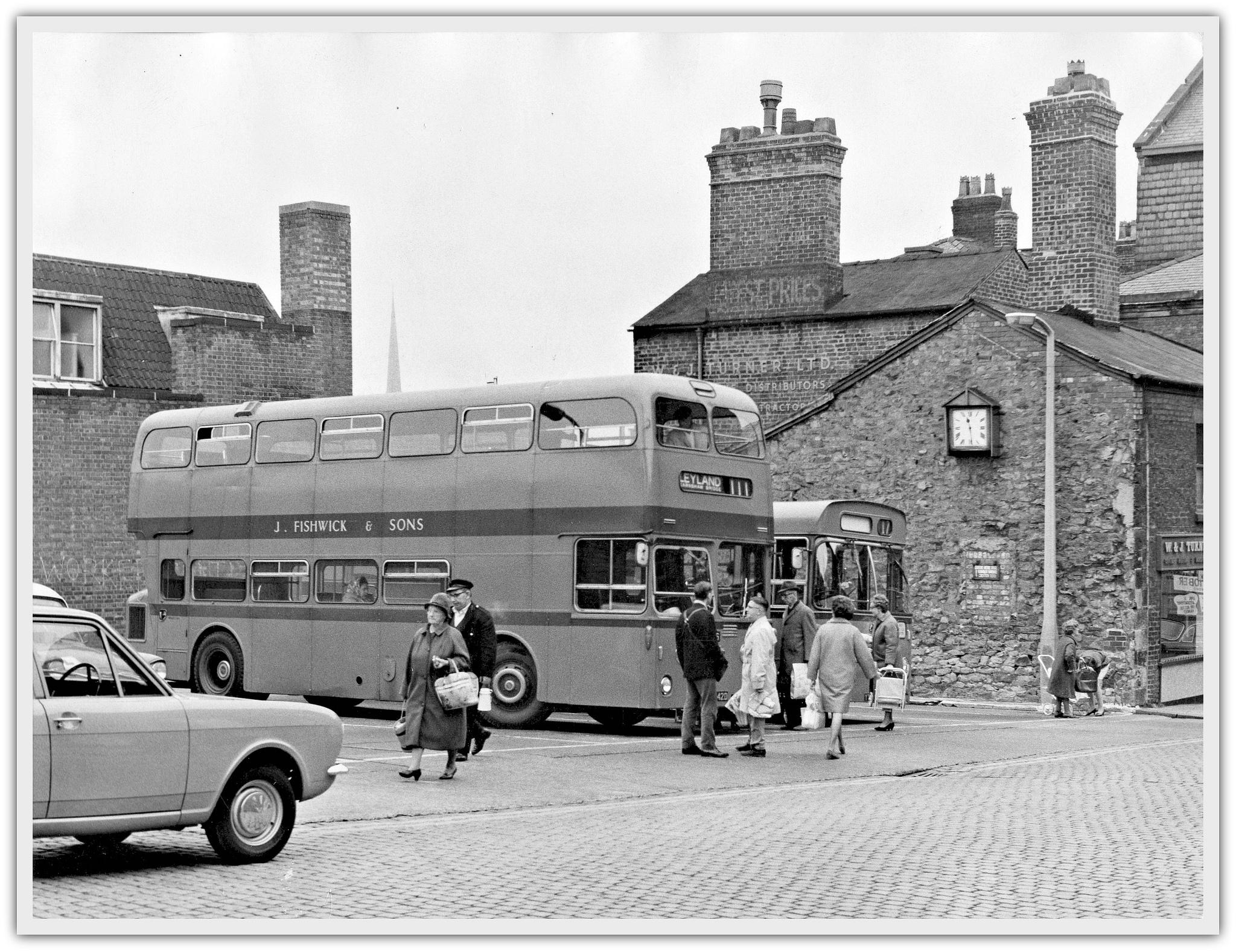 Fishwick Bus Station, Fox Street, Preston c.1968