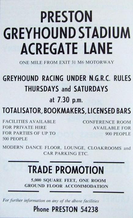 Preston Greyhound Stadium Flyer. Pic: Tony Worrall.