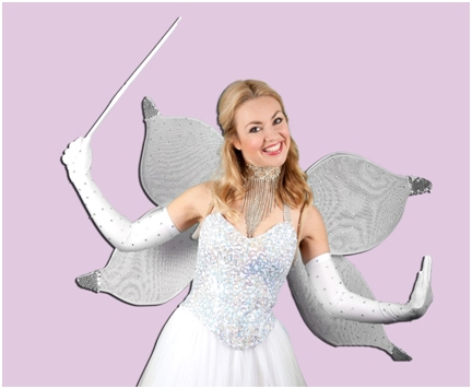 The good fairy, played by the lovely Hayley Hassall From CBBC