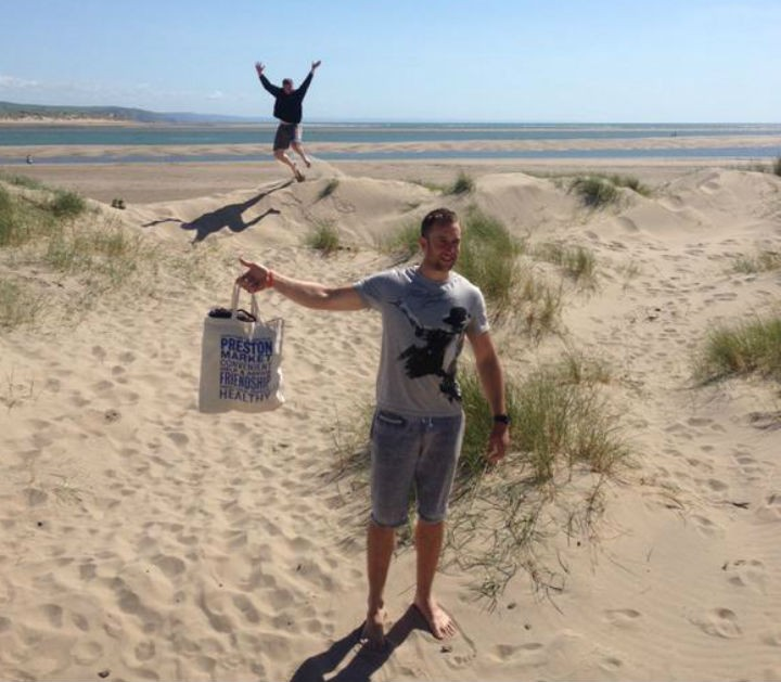 The bag makes a trip to North Wales