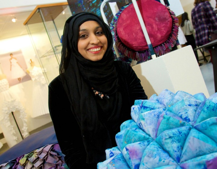 Fawziyah and her textiles