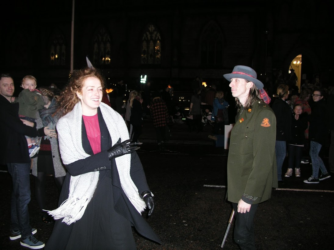 Re-enactment on Chuch Street, Preston, Lancashire - 1715 Last Battle on English Soil Pic: PR1 Media Productions