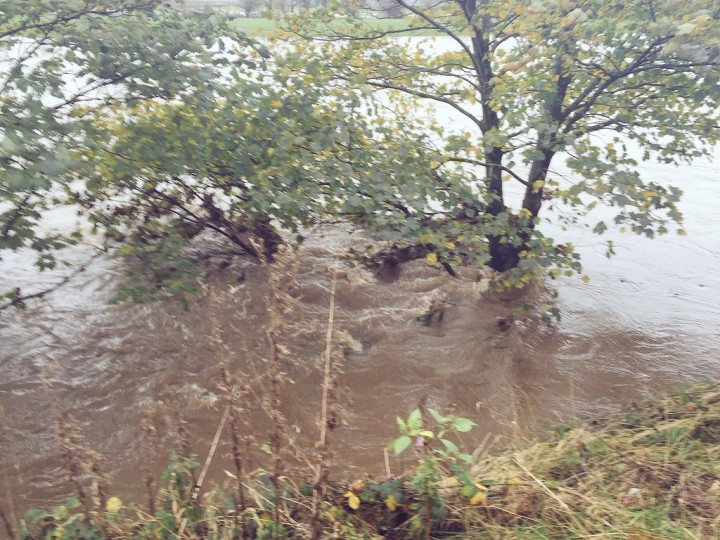 Water flooding over the banks of the Ribble Pic: Louise Hogg